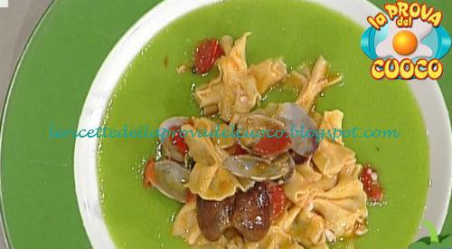 Farfalle ai frutti di mare su crema di piselli ricetta Rossi da Prova del Cuoco