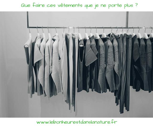 10 astuces don vente recyclage vêtements
