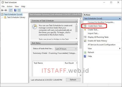 Create Basic Task - ITSTAFF.web.id