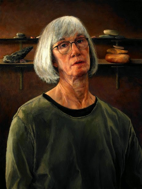 Catherine Prescot, Self Portrait, Portraits of Painters, Fine arts, Painter Catherine Prescot