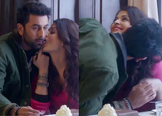 """Aishwarya Rai Bachchan kisses Ranbir Kapoor in """"Ae Dil Hai Mushkil"""""""