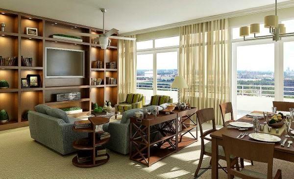 contoh desain ruang tamu dan keluarga rumah minimalis sederhana