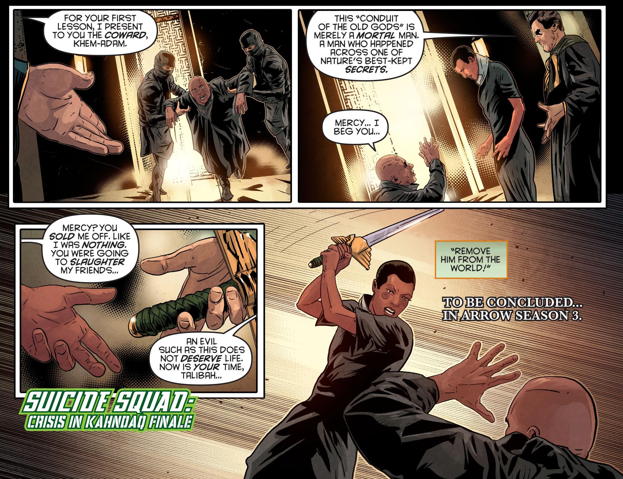 Read online Arrow: Season 2.5 [I] comic -  Issue #14 - 22