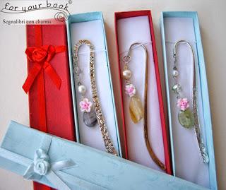 segnalibro metallo pietre dure regalo originale per lei Natale