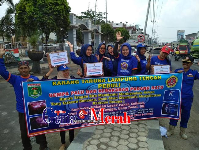 Karang Taruna  Lamteng Kumpulkan Dana Tsunami Sulteng & Korban Kebakaran