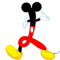 Original alfabeto inspirado en Mickey Mouse L.
