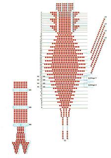 Рак из бисера объемный. Схема