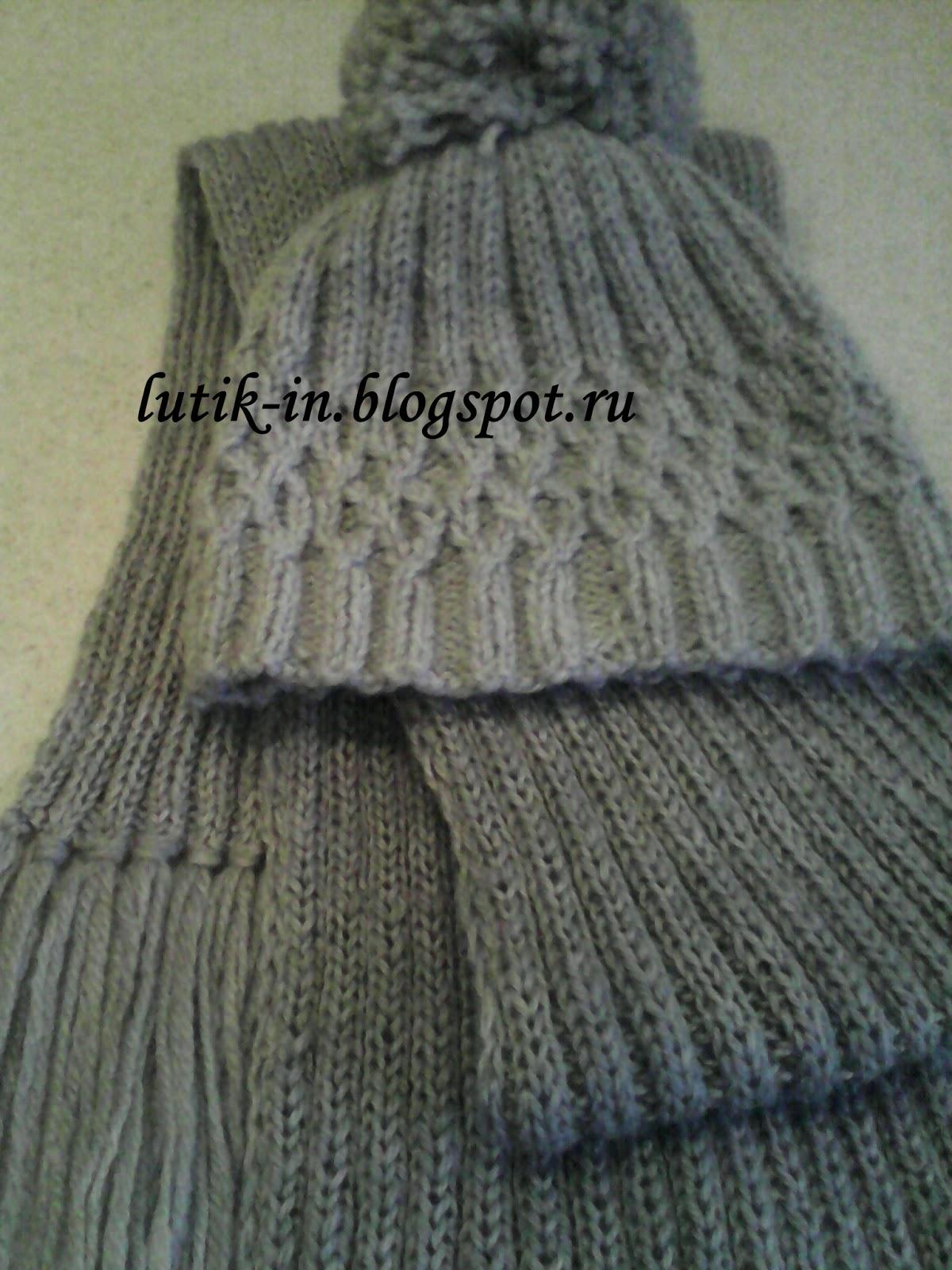 lutik-вязание крючком и спицами: вязаная шапочка с ...