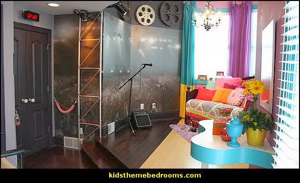 Music bedroom decorating ideas - rock star bedrooms - music theme bedrooms - music theme decor - music themed decorations - bedding with musical notes