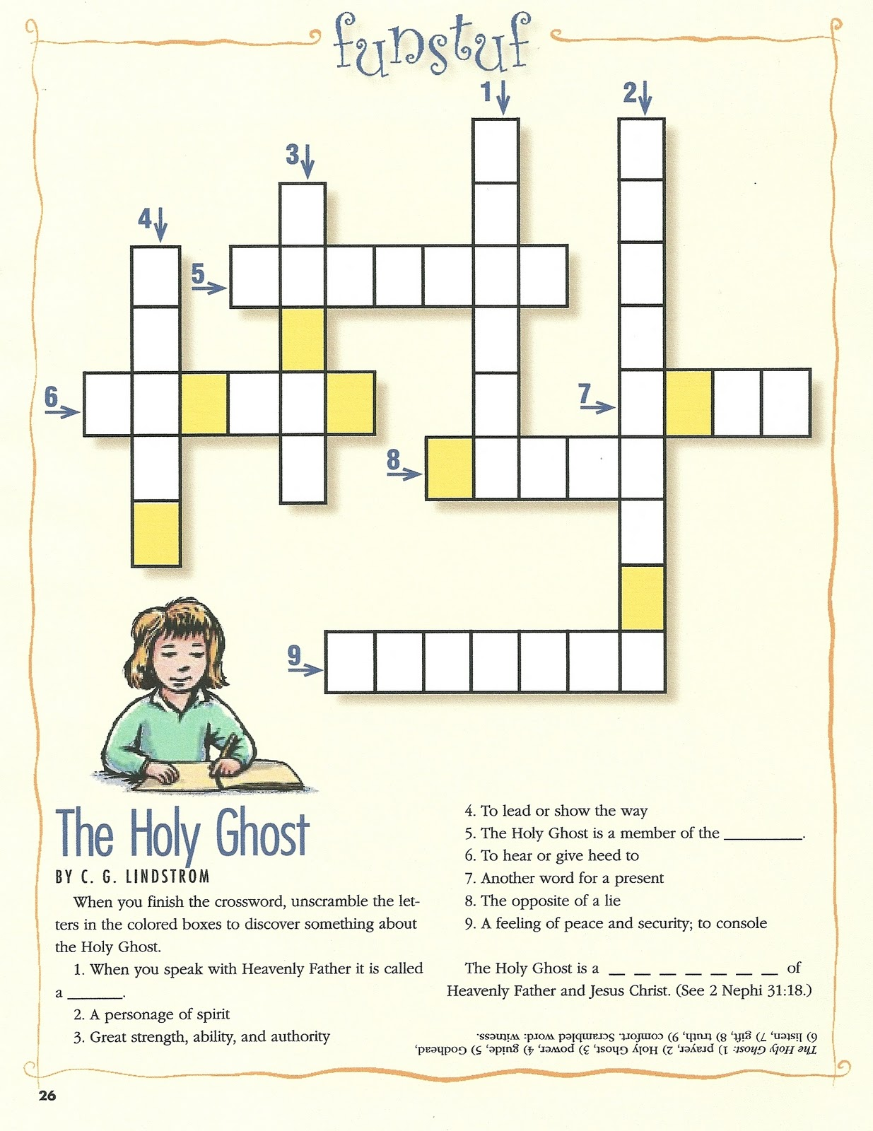 Ts Of The Holy Spirit Worksheet
