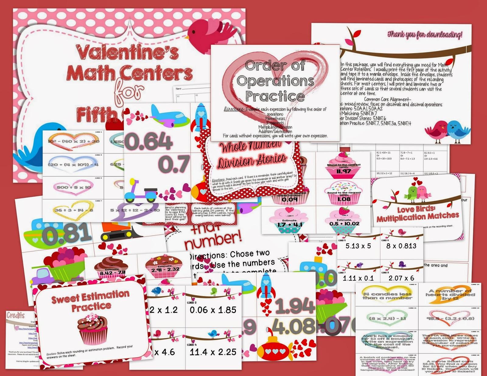 Misskinbk A Fifth Grade Blog Valentine S Day Freebie