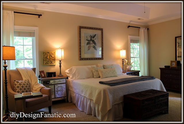 master bedroom , master bedroom paint, new paint, Benjamin Moore White Sand, Sherwin Williams
