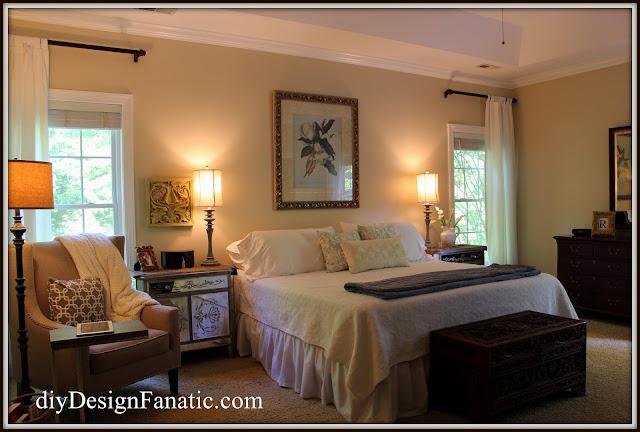 master bedroom , master bedroom paint, new paint, Benjamin Moore White Sand, Sherwin Williams