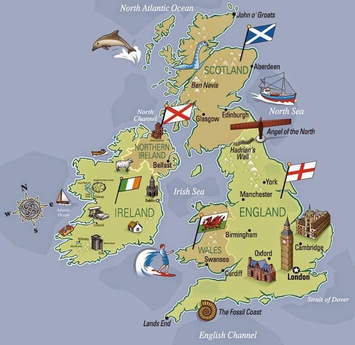Cartina Inghilterra E Scozia.Megaroz 12 Letture The United Kingdom