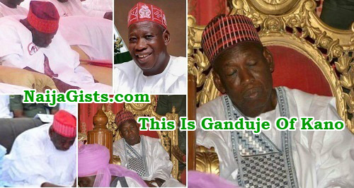 ganduje sleeping at functions