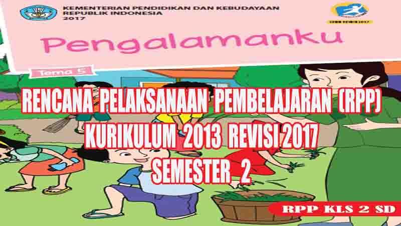 Rpp Tematik Kelas 2 Sd Tema 5 Semester 2 Kurikulum 2013 Revisi 2017 Profesi Guru