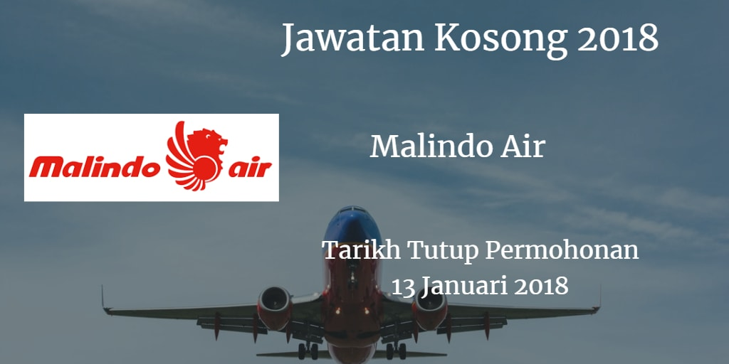Jawatan Kosong Malindo Air 13 Januari 2018