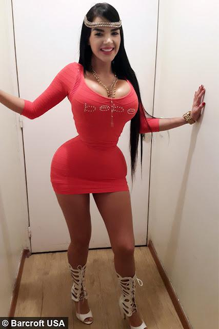 CURVY Aleira Avendano wanita dengan pinggang terkecil di dunia