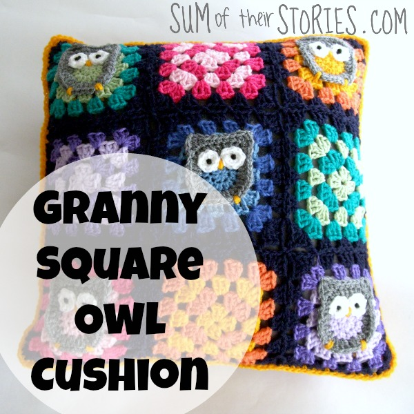 Owl Granny Square Cushion