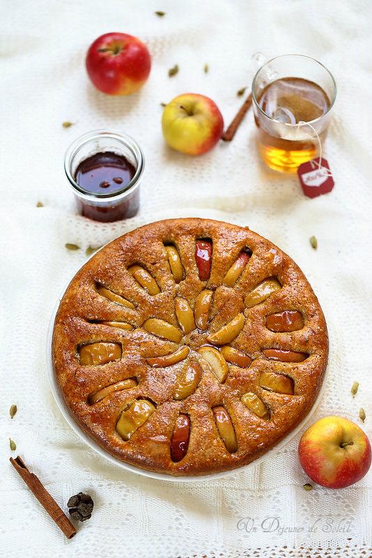 Gâteaux et tartes aux pommes : vingt recettes. Gâteau pommes épices