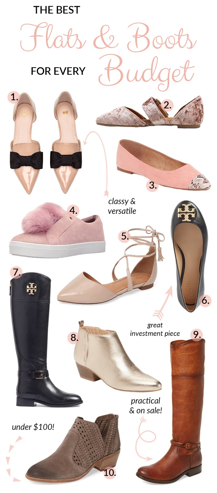The Best Flats & Boots for Every Budget by Memphis blogger Walking in Memphis in High Heels