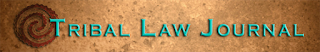 Tribal Law Journal banner