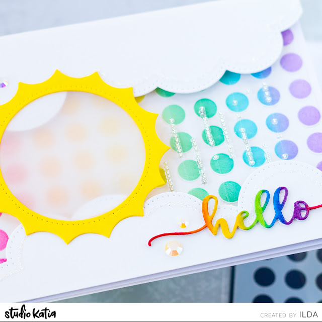 DIY Rain Maker Shaker Interactive Card and Video for Studio Katia by ilovedoingallthingscrafty.com