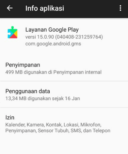 Hapus Update Google Play Services