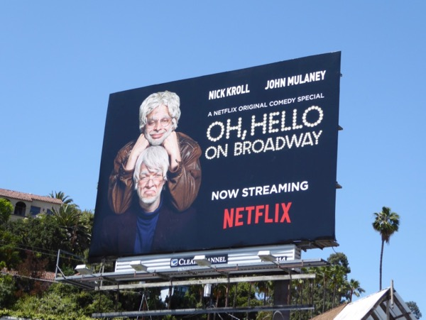 Oh Hello on Broadway Netflix billboard