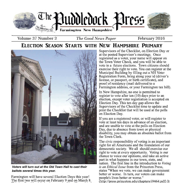 The February 2016 Issue of the Puddledock is Out