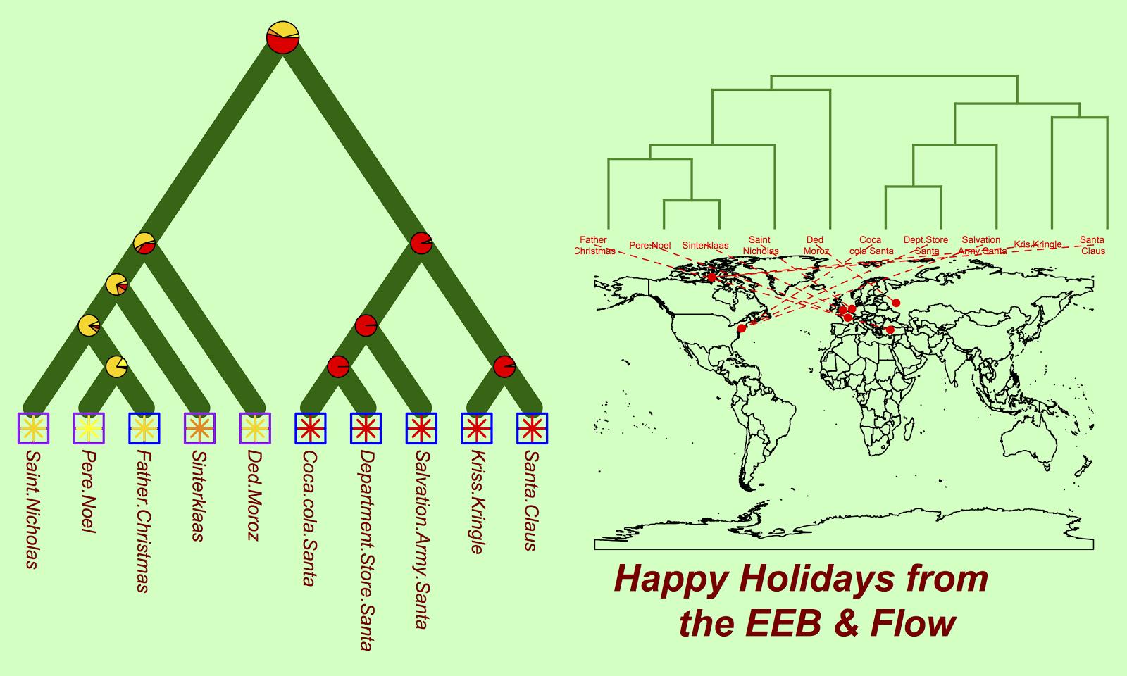 The Eeb Flow Seasons Greeting Cards