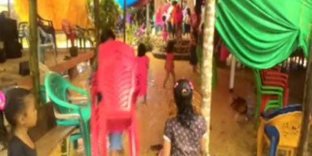 Pesta Pernikahan Terpaksa Bubar akibat Terjangan Banjir