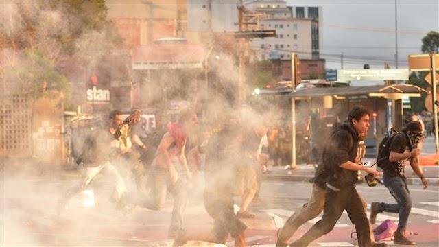 Brazil police, anti-reform protesters clash in Sao Paulo