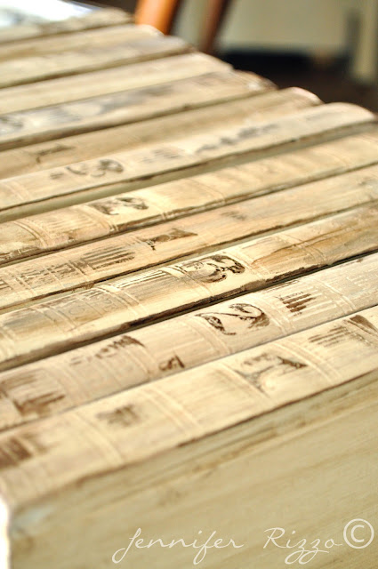 Make distressed books from old encyclopedias