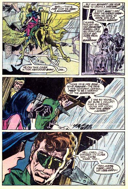 Green Lantern Green Arrow #83 dc comic book page art by Neal Adams