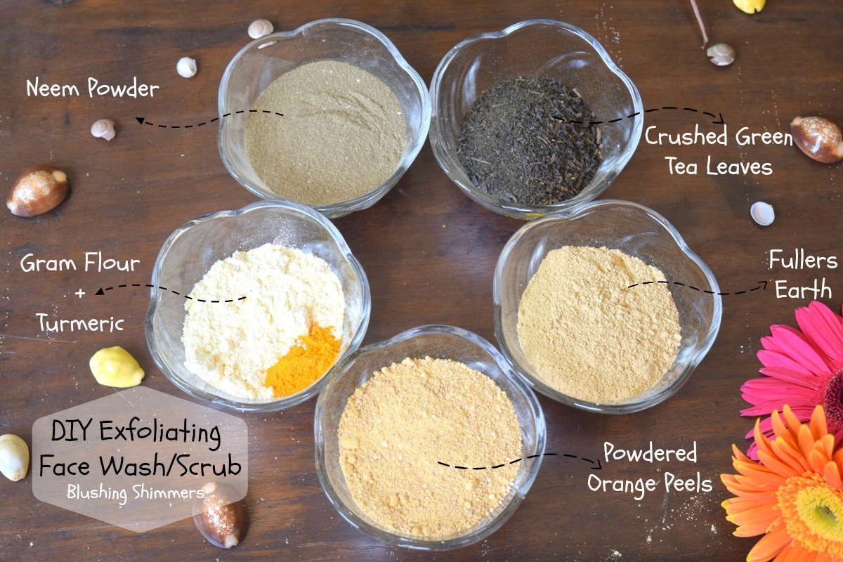 DIY Exfoliating Face Wash