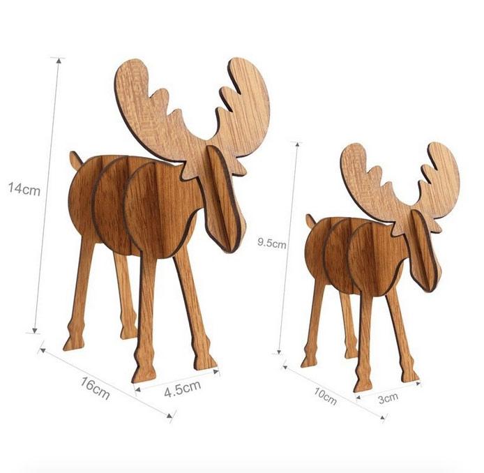 adorno navideño forma de renos
