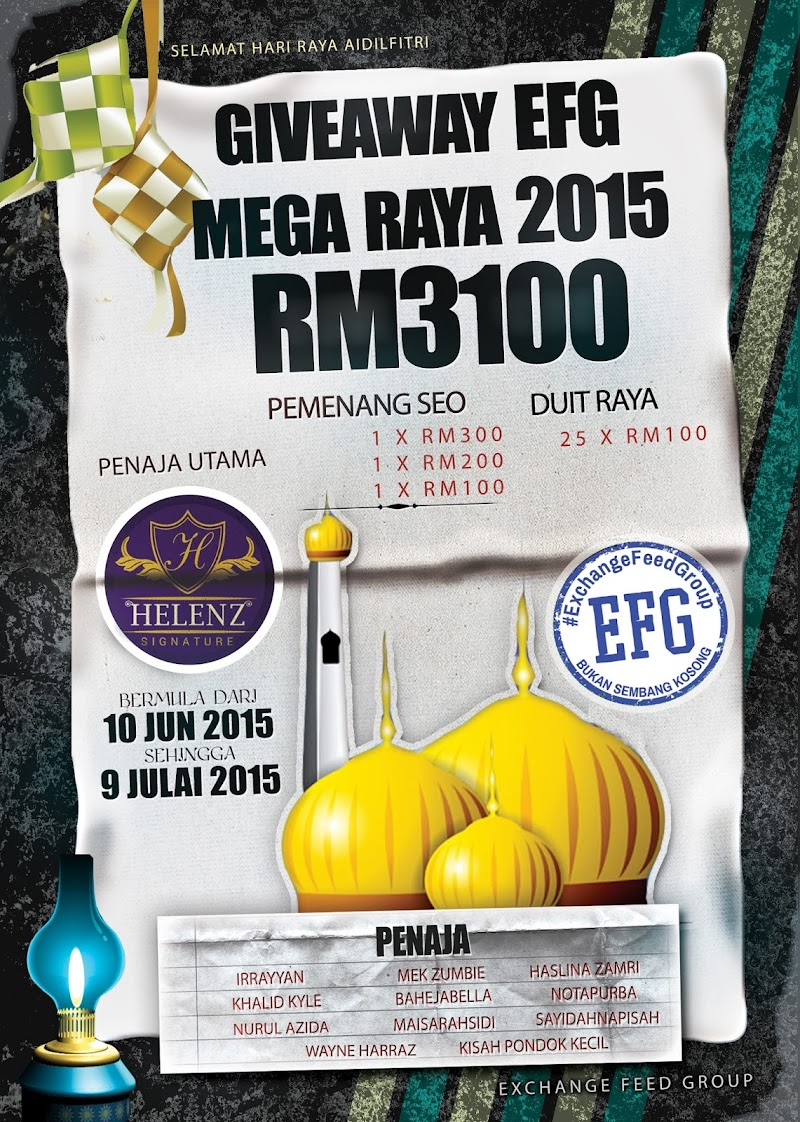 Giveaway EFG Mega Raya 2015