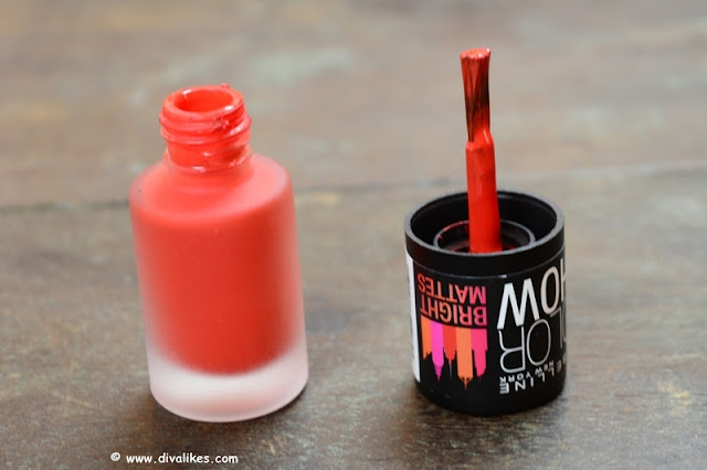 Maybelline New York Color Show Bright Matte Nail Polish Blazing Orange Shade