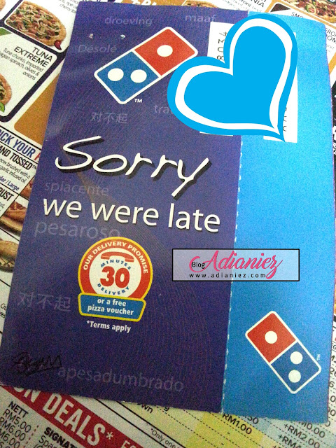 domino's pizza 30 minutes delivery guarantee