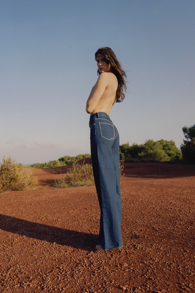 Off White Denim Resort 2019 Campaign featuring Vanessa Moody
