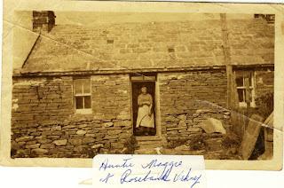 Aunt Maggie at Rosebank Orkney
