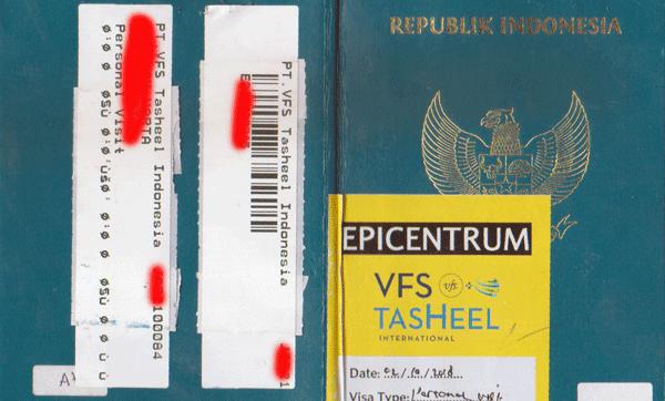 contoh halaman paspor yang sudah stempel visa saudi dari vfs tasheel