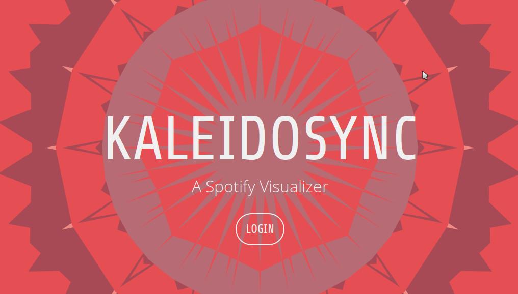 kaleidosync - web-based Spotify visualizer