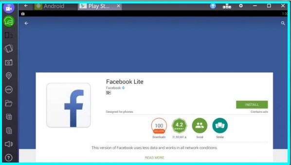 download facebook lite app for pc