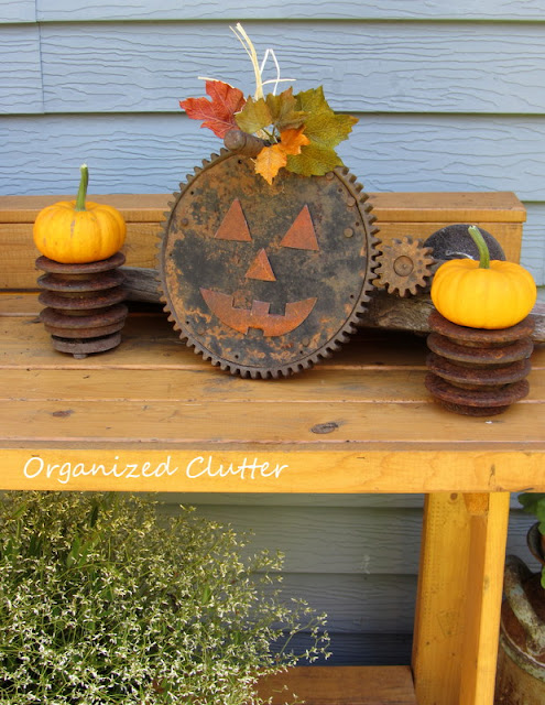 Repurposed Junk Jack o'Lantern
