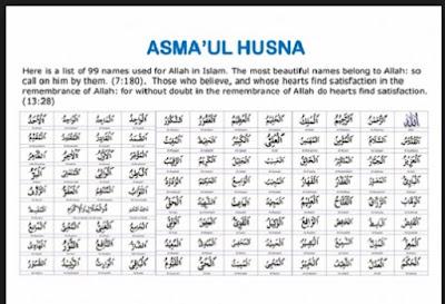 Asmaul Husna 99 nama - nama yang baik Allah - berbagaireviews.com