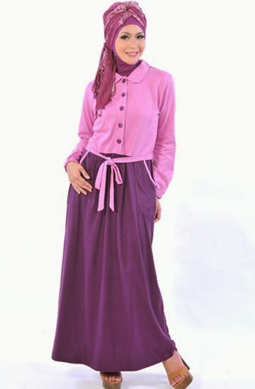 Desain baju muslim remaja formal sederhana