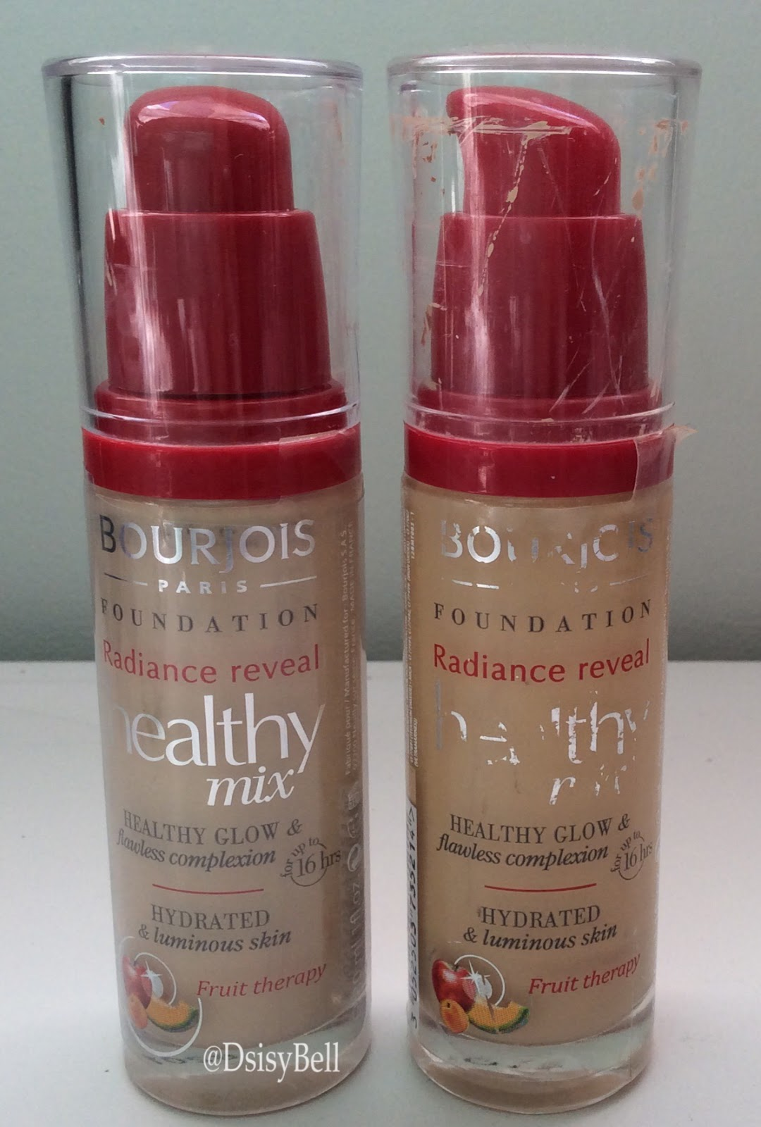 Daisybell: Foundation Favourites - Bourjois Healthy Mix Foundation swatch andreview