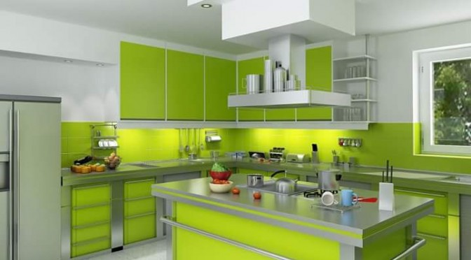 21 Model Desain Kitchen Sets Hijau